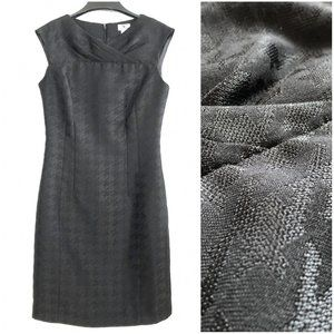 WORTHINGTON black houndstooth classic fitted dress